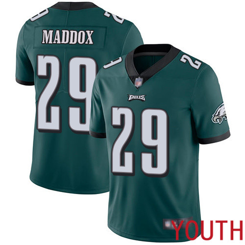 Youth Philadelphia Eagles 29 Avonte Maddox Midnight Green Team Color Vapor Untouchable NFL Jersey Limited