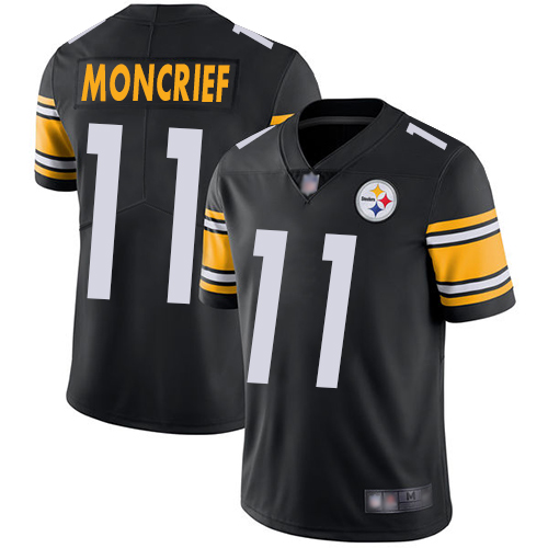 Youth Pittsburgh Steelers Football 11 Limited Black Donte Moncrief Home Vapor Untouchable Nike NFL Jersey