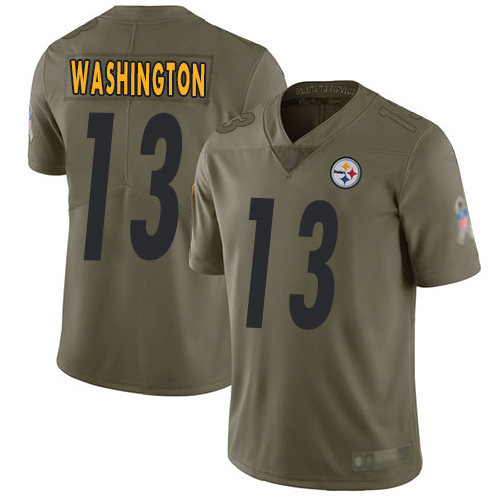 Youth Pittsburgh Steelers Football 13 Limited Olive James Washington 2017 Salute to Service Nike NFL Jersey