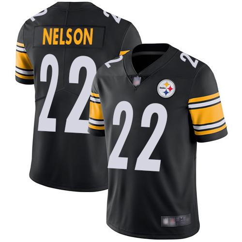 Youth Pittsburgh Steelers Football 22 Limited Black Steven Nelson Home Vapor Untouchable Nike NFL Jersey
