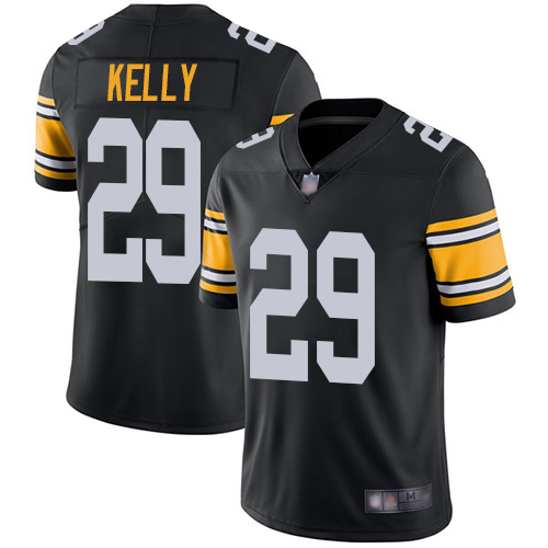 Youth Pittsburgh Steelers Football 29 Limited Black Kam Kelly Alternate Vapor Untouchable Nike NFL Jersey