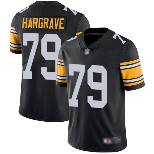 Youth Pittsburgh Steelers Football 79 Limited Black Javon Hargrave Alternate Vapor Untouchable Nike NFL Jersey