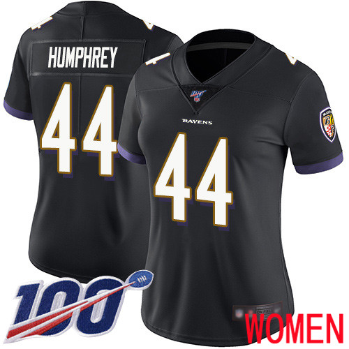 Baltimore Ravens Limited Black Women Marlon Humphrey Alternate Jersey NFL Football 44 100th Season Vapor Untouchable