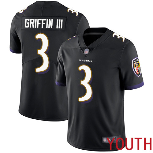 Baltimore Ravens Limited Black Youth Robert Griffin III Alternate Jersey NFL Football 3 Vapor Untouchable
