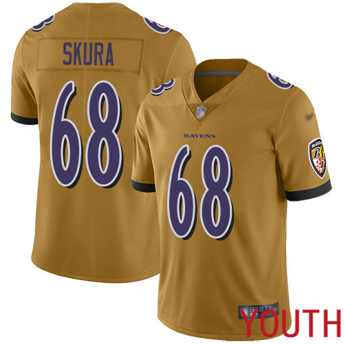 Baltimore Ravens Limited Gold Youth Matt Skura Jersey NFL Football 68 Inverted Legend