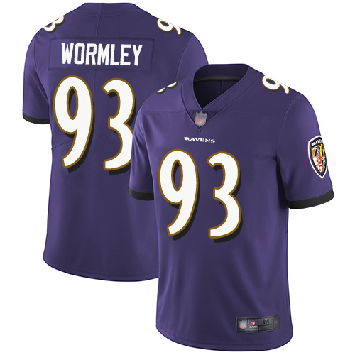 Baltimore Ravens Limited Purple Men Chris Wormley Home Jersey NFL Football 93 Vapor Untouchable