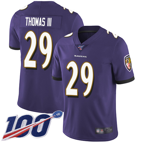 Baltimore Ravens Limited Purple Men Earl Thomas III Home Jersey NFL Football 29 100th Season Vapor Untouchable