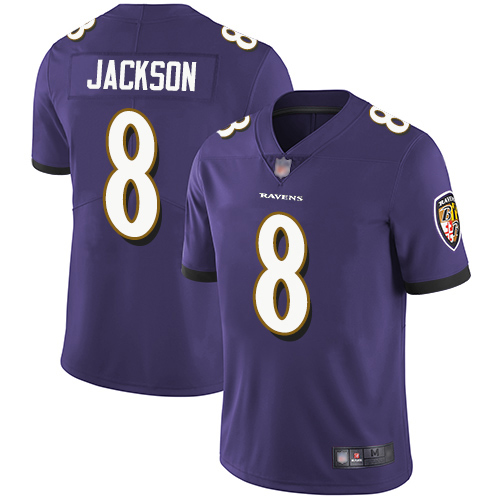 Baltimore Ravens Limited Purple Men Lamar Jackson Home Jersey NFL Football 8 Vapor Untouchable