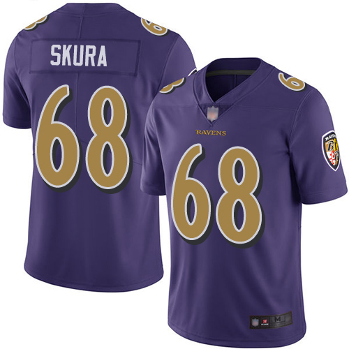 Baltimore Ravens Limited Purple Men Matt Skura Jersey NFL Football 68 Rush Vapor Untouchable