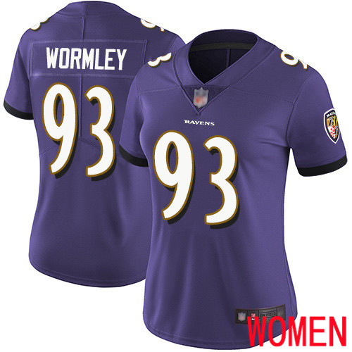 Baltimore Ravens Limited Purple Women Chris Wormley Home Jersey NFL Football 93 Vapor Untouchable