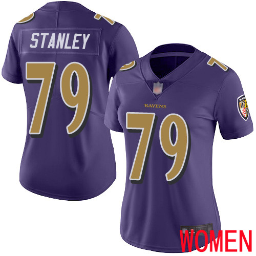 Baltimore Ravens Limited Purple Women Ronnie Stanley Jersey NFL Football 79 Rush Vapor Untouchable