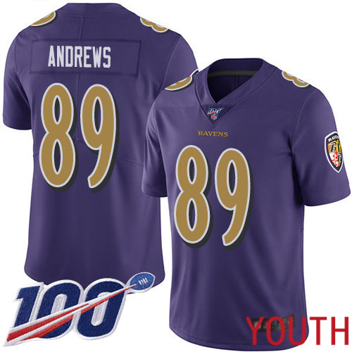 Baltimore Ravens Limited Purple Youth Mark Andrews Jersey NFL Football 89 100th Season Rush Vapor Untouchable