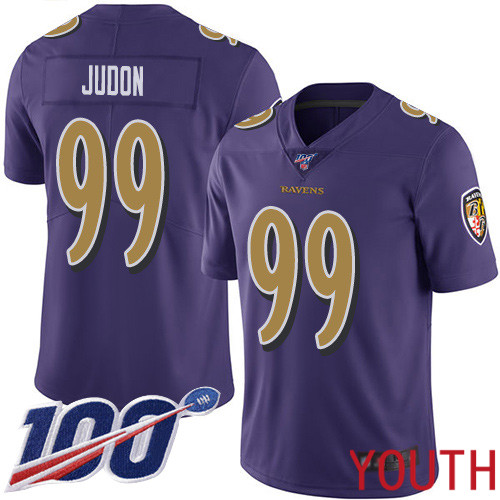 Baltimore Ravens Limited Purple Youth Matt Judon Jersey NFL Football 99 100th Season Rush Vapor Untouchable