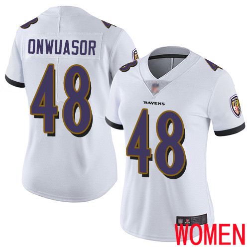 Baltimore Ravens Limited White Women Patrick Onwuasor Road Jersey NFL Football 48 Vapor Untouchable