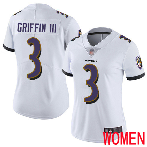 Baltimore Ravens Limited White Women Robert Griffin III Road Jersey NFL Football 3 Vapor Untouchable