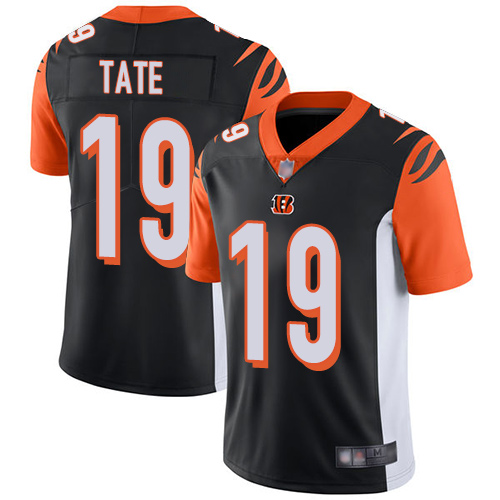 Cincinnati Bengals Limited Black Men Auden Tate Home Jersey NFL Footballl 19 Vapor Untouchable