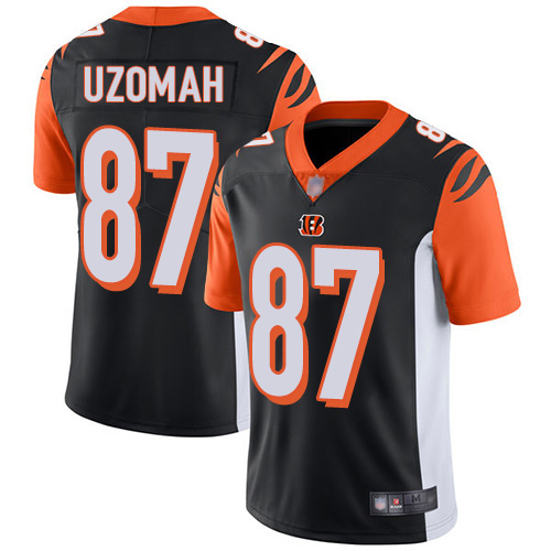 Cincinnati Bengals Limited Black Men C J Uzomah Home Jersey NFL Footballl 87 Vapor Untouchable