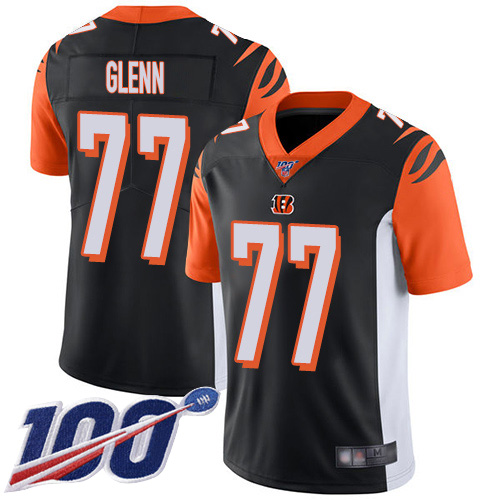 Cincinnati Bengals Limited Black Men Cordy Glenn Home Jersey NFL Footballl 77 100th Season Vapor Untouchable
