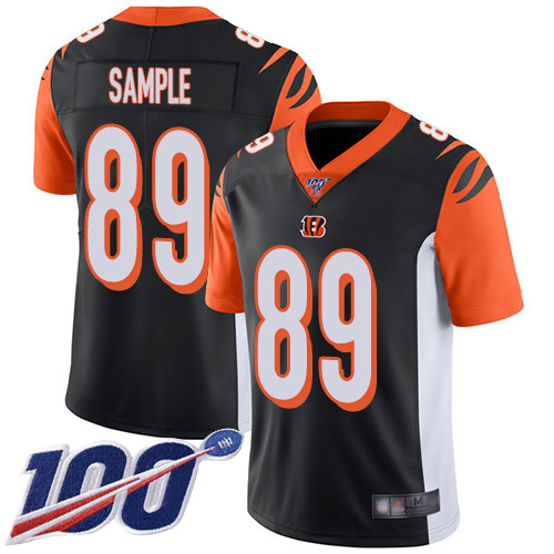 Cincinnati Bengals Limited Black Men Drew Sample Home Jersey NFL Footballl 89 100th Season Vapor Untouchable