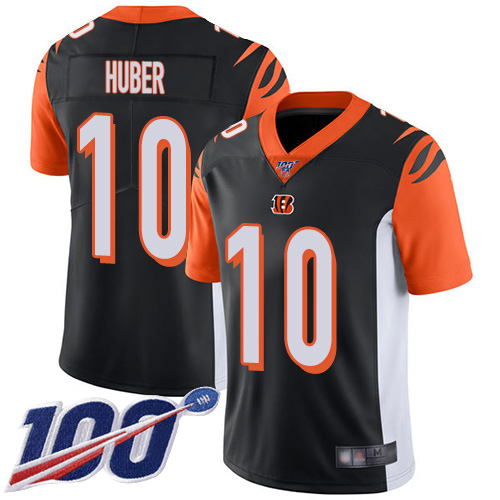 Cincinnati Bengals Limited Black Men Kevin Huber Home Jersey NFL Footballl 10 100th Season Vapor Untouchable