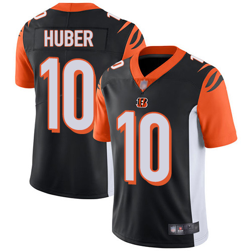 Cincinnati Bengals Limited Black Men Kevin Huber Home Jersey NFL Footballl 10 Vapor Untouchable
