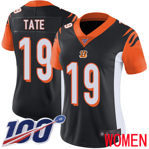 Cincinnati Bengals Limited Black Women Auden Tate Home Jersey NFL Footballl 19 100th Season Vapor Untouchable