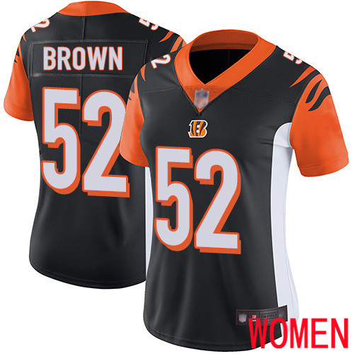 Cincinnati Bengals Limited Black Women Preston Brown Home Jersey NFL Footballl 52 Vapor Untouchable