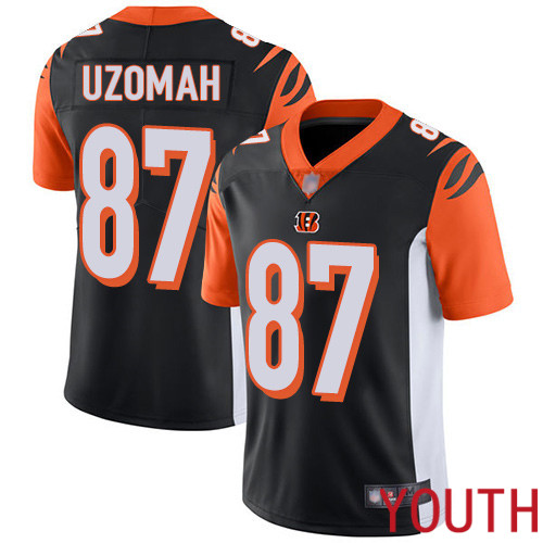Cincinnati Bengals Limited Black Youth C J Uzomah Home Jersey NFL Footballl 87 Vapor Untouchable