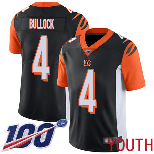 Cincinnati Bengals Limited Black Youth Randy Bullock Home Jersey NFL Footballl 4 100th Season Vapor Untouchable