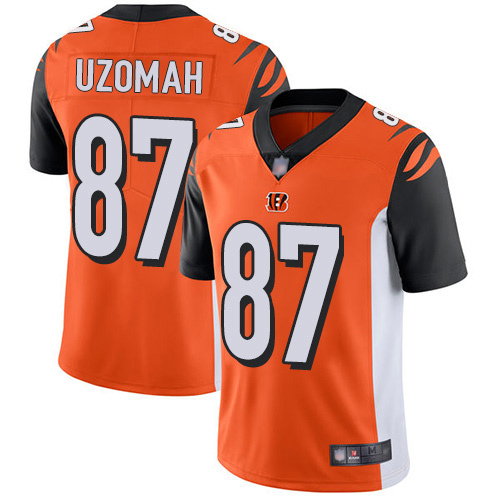 Cincinnati Bengals Limited Orange Men C J Uzomah Alternate Jersey NFL Footballl 87 Vapor Untouchable