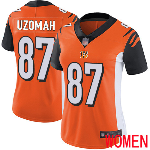 Cincinnati Bengals Limited Orange Women C J Uzomah Alternate Jersey NFL Footballl 87 Vapor Untouchable