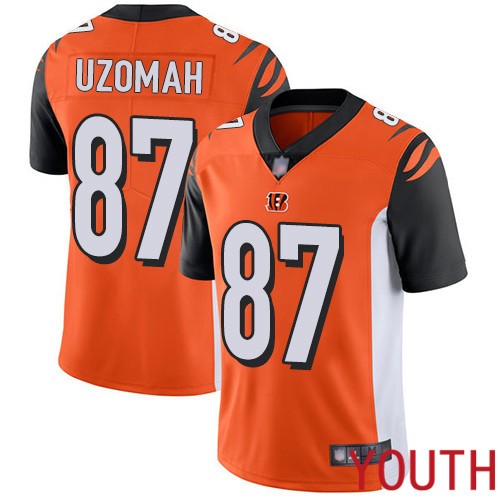 Cincinnati Bengals Limited Orange Youth C J Uzomah Alternate Jersey NFL Footballl 87 Vapor Untouchable