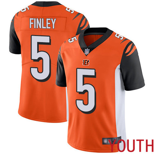 Cincinnati Bengals Limited Orange Youth Ryan Finley Alternate Jersey NFL Footballl 5 Vapor Untouchable