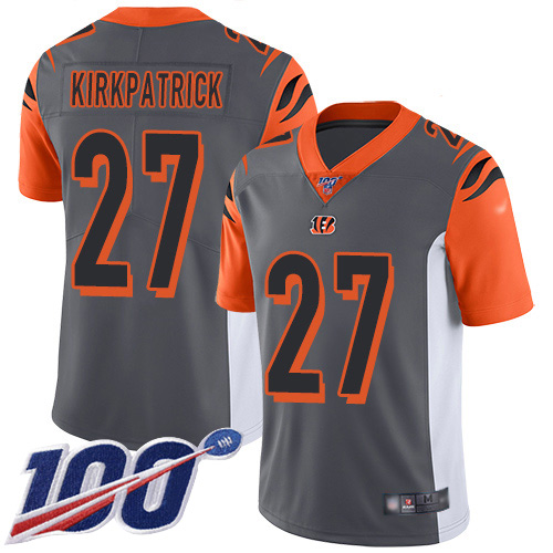Cincinnati Bengals Limited Silver Men Dre Kirkpatrick Jersey NFL Footballl 27 100th Season Inverted Legend