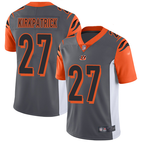 Cincinnati Bengals Limited Silver Men Dre Kirkpatrick Jersey NFL Footballl 27 Inverted Legend
