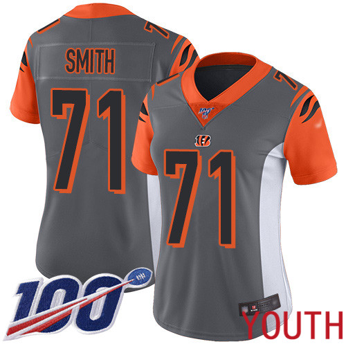 Cincinnati Bengals Limited Silver Youth Andre Smith Jersey NFL Footballl 71 100th Season Inverted Legend