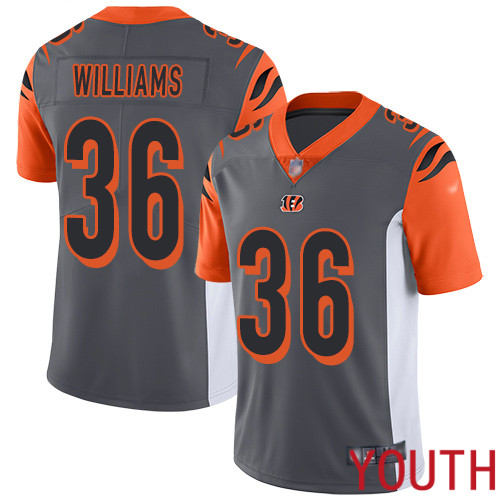 Cincinnati Bengals Limited Silver Youth Shawn Williams Jersey NFL Footballl 36 Inverted Legend