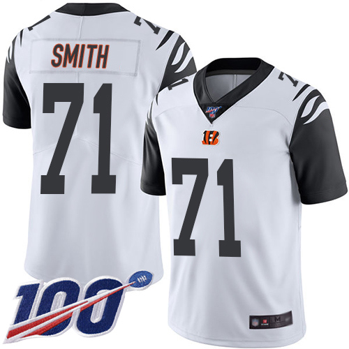 Cincinnati Bengals Limited White Men Andre Smith Jersey NFL Footballl 71 100th Season Rush Vapor Untouchable