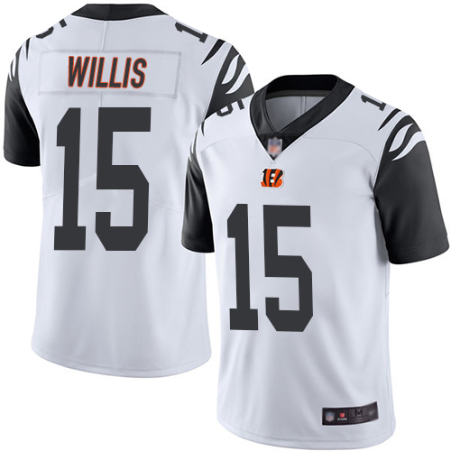 Cincinnati Bengals Limited White Men Damion Willis Jersey NFL Footballl 15 Rush Vapor Untouchable