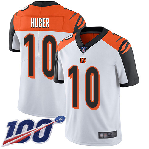 Cincinnati Bengals Limited White Men Kevin Huber Road Jersey NFL Footballl 10 100th Season Vapor Untouchable