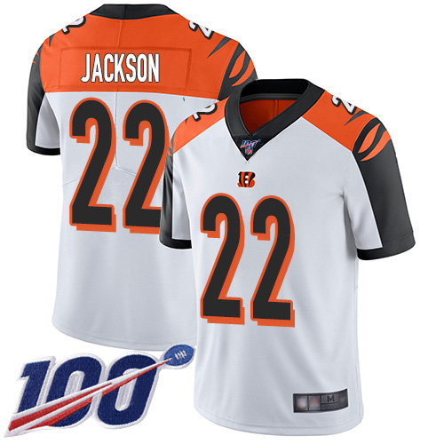 Cincinnati Bengals Limited White Men William Jackson Road Jersey NFL Footballl 22 100th Season Vapor Untouchable