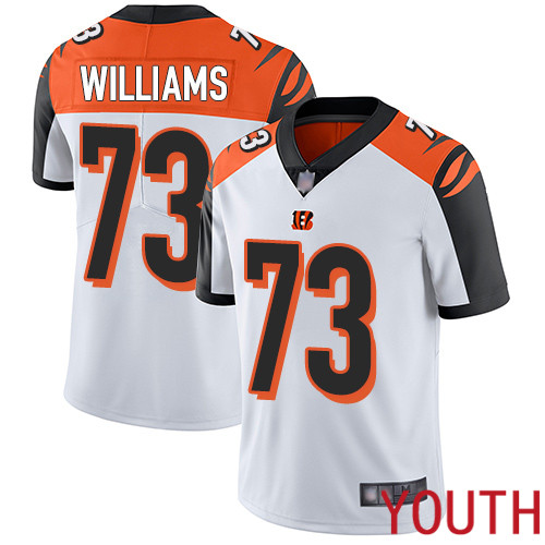 Cincinnati Bengals Limited White Youth Jonah Williams Road Jersey NFL Footballl 73 Vapor Untouchable