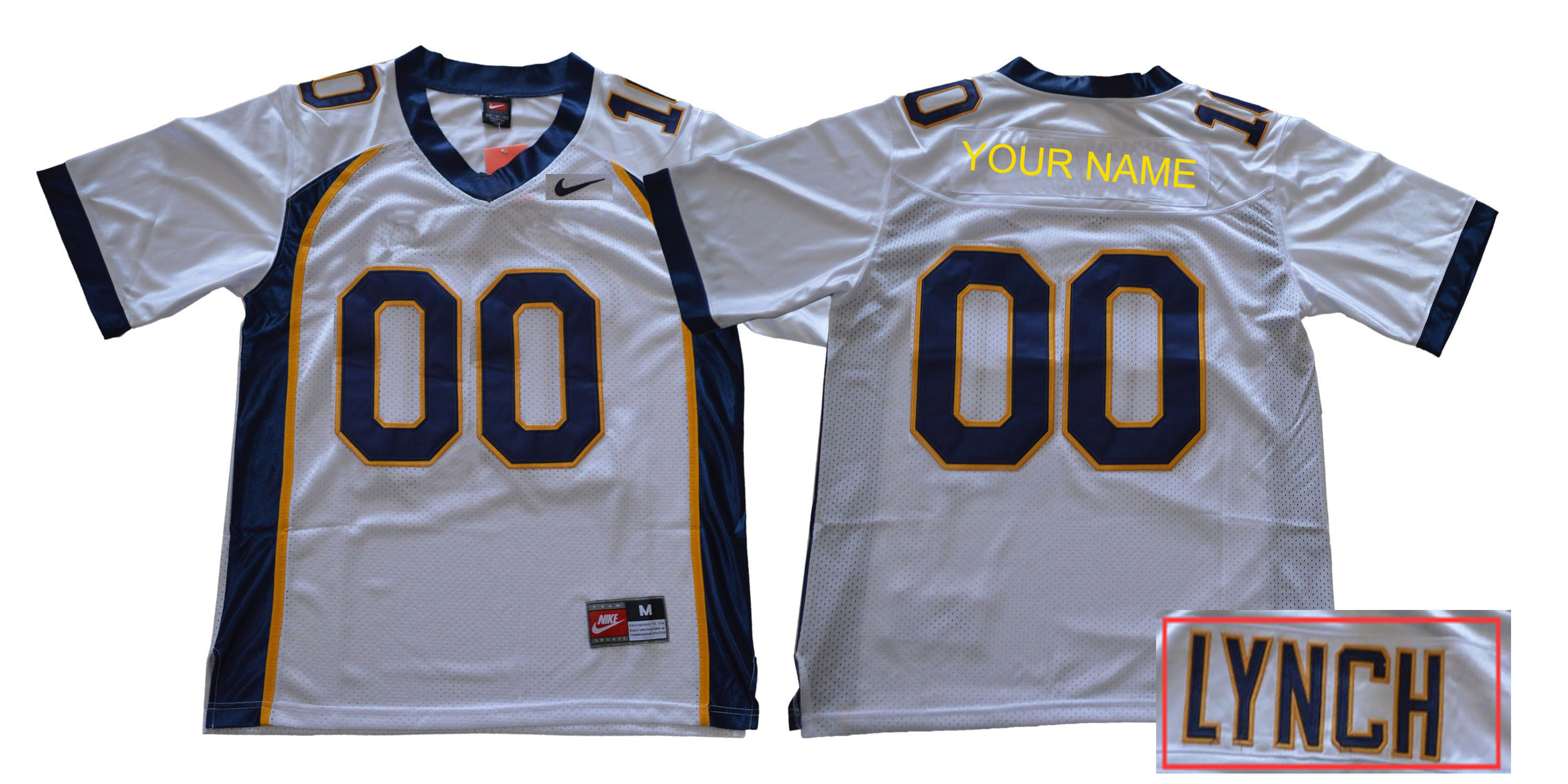 Custom Men California Golden Bears White Nike NCAA Jerseys