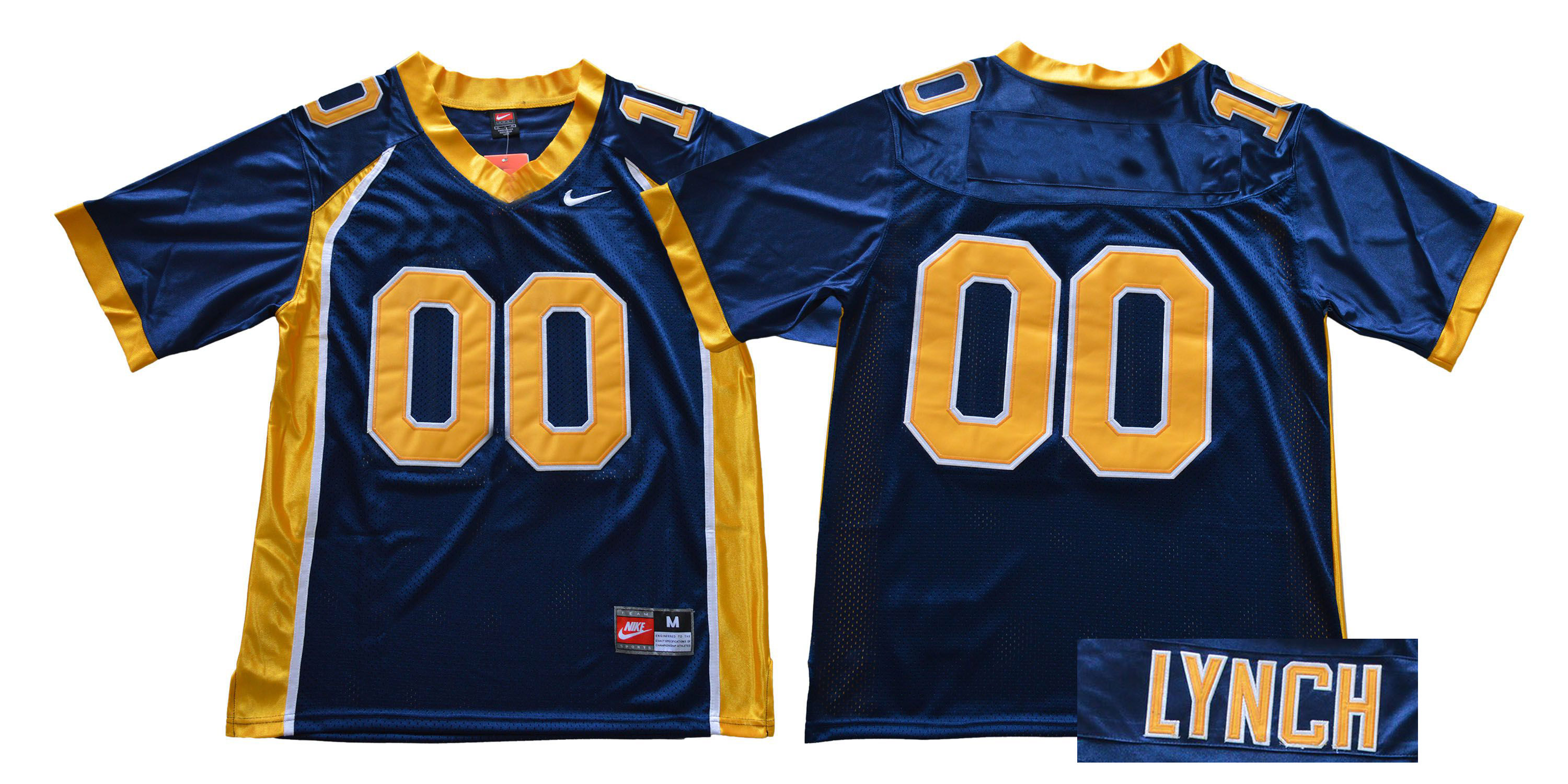 Custom Men California Golden Bears Blue Nike NCAA Jerseys