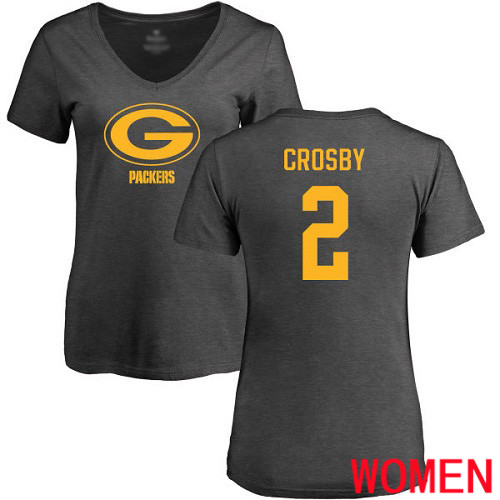 Green Bay Packers Ash Women 2 Crosby Mason One Color Nike NFL T Shirt