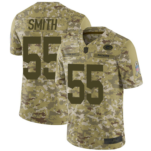 Green Bay Packers Limited Camo Men 55 Smith Za Darius Jersey Nike NFL 2018 Salute to Service
