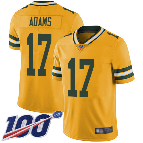 Green Bay Packers Limited Gold Men 17 Adams Davante Jersey Nike NFL 100th Season Rush Vapor Untouchable
