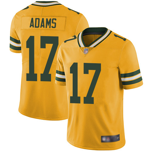 Green Bay Packers Limited Gold Men 17 Adams Davante Jersey Nike NFL Rush Vapor Untouchable