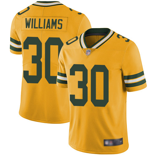 Green Bay Packers Limited Gold Men 30 Williams Jamaal Jersey Nike NFL Rush Vapor Untouchable