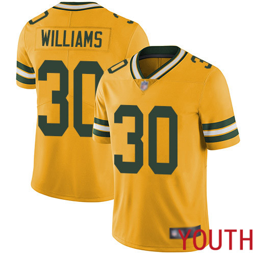 Green Bay Packers Limited Gold Youth 30 Williams Jamaal Jersey Nike NFL Rush Vapor Untouchable